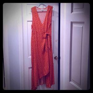 Universal Thread 2X Sleeveless Wrap Maxi Dress